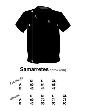 Tamaño de las camisetas