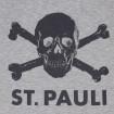 Camiseta Calavera St. Pauli gris