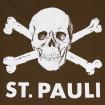 Samarreta St. Pauli calavera marró