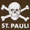 T-shirt St. Pauli skull brown