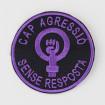 Pedaç brodat feminista cap agressió sense resposta