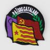Pedaç brodat tres eixos independència feminisme socialisme Països Catalans