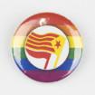 Xapa LGTBI LGBTI Acció antifeixista Països Catalans ø 25mm
