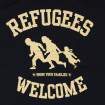 Samarreta de tires Refugees Welcome de noia