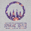 Samarreta Smoking Souls logo flors