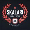 Camiseta negra Skalari 25 anniversary