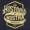 Samarreta negra de tires unisex Aspencat La història és nostra