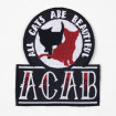 Parche bordado ACAB All Cats Are Beautiful