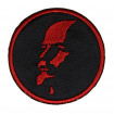Embroided patch Lenin red and black