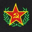 Polo negro estrella comunista