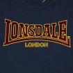 Samarreta logo Lonsdale Vellut blava